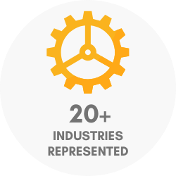 20+ industries represented